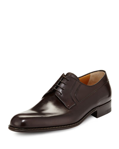 Calf Leather Lace-Up Derby, Alo