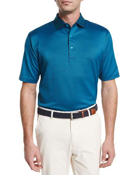 Peter Millar Cooper Birdseye Lisle Polo Shirt, Blue