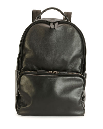 Calf Leather Backpack, Black