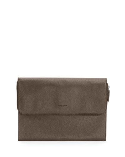 Leather Portfolio Case, Anthracite