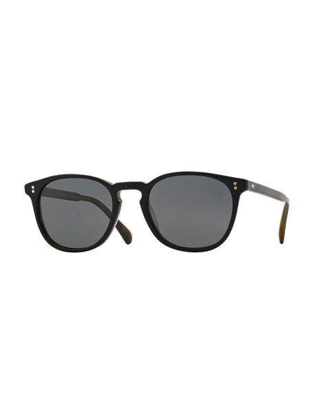 Oliver Peoples Finley Esq. 51 Acetate Polarized Sunglasses, Black