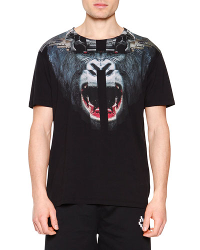 Angry Gorilla Graphic Tee, Black
