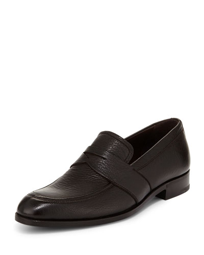 Deerskin Penny Loafer, Brown