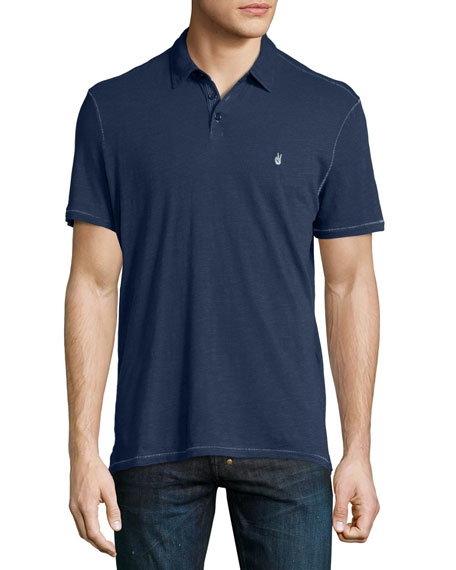 Short-Sleeve Peace Polo Shirt, Navy