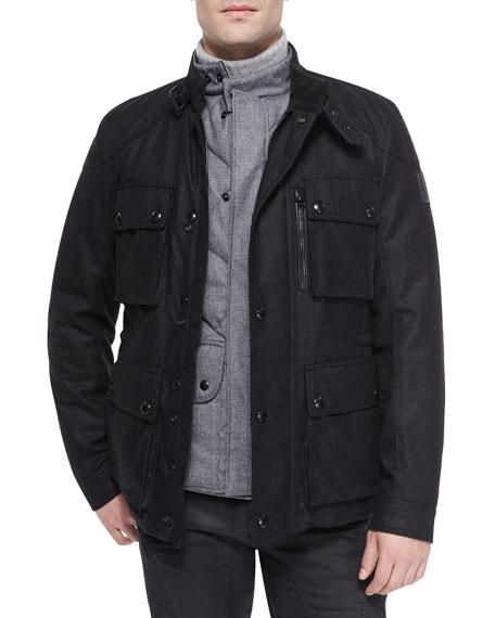 Belstaff Trialmaster Cashmere-Blend Jacket, Charcoal