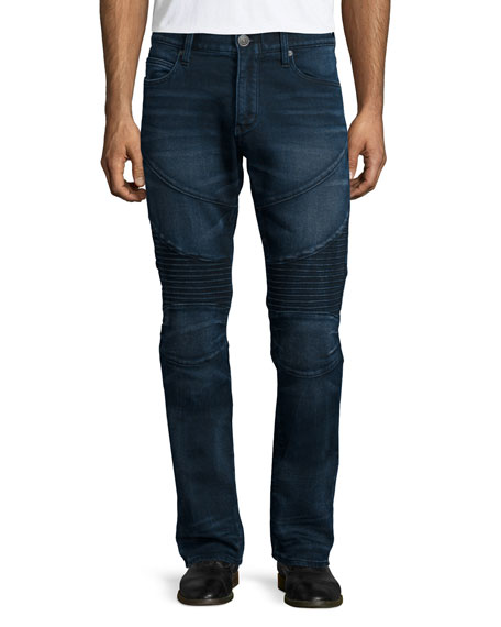 True ReligionRocco Deep Shadow Moto Jeans, Blue