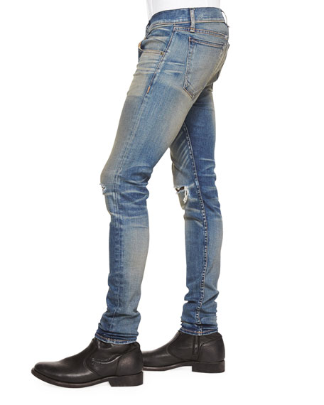 Waterloo Distressed Skinny Jeans, Blue