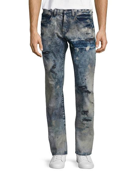 PRPS Barracuda Distressed Tie-Dye Jeans, Blue