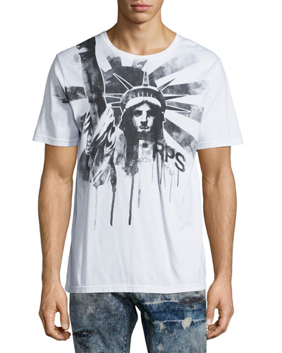 Statue of Liberty Graphic Tee, White