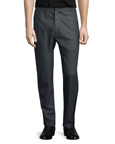 Sector Cashmere-Blend Track Pants, Charcoal