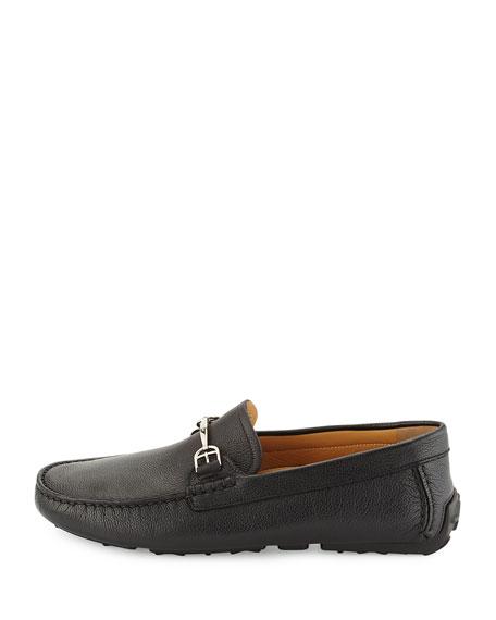 Bally Leather Slip-On Driver, Black