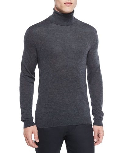 Vilass Turtleneck Sweater, Charcoal