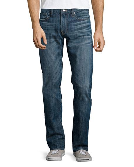 FRAME L'Homme Straight-Leg Denim Jeans, Biscayne