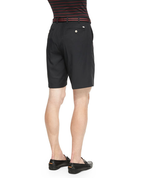 Salem High-Drape Performance Shorts, Black