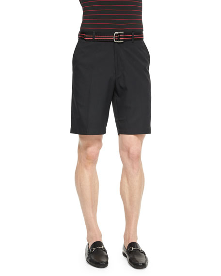 Peter Millar Salem High-Drape Performance Shorts, Black