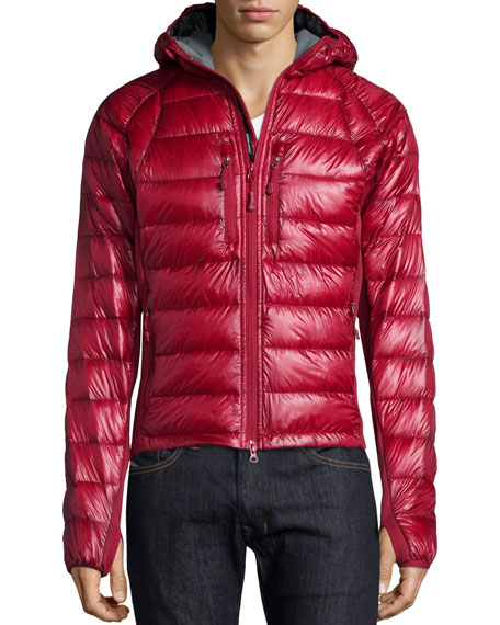 Canada Goose Hybridge Lite Hooded Jacket, Red