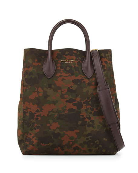 Burberry Men's Camo-Print Medium Carryall Bag, Green