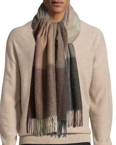 Mainline Check Wool Scarf
