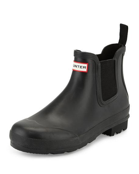 Hunter Boot Dark-Sole Chelsea Boot, Black