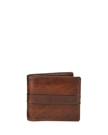 Frye Oliver Leather Bi-Fold Wallet, Dark Brown