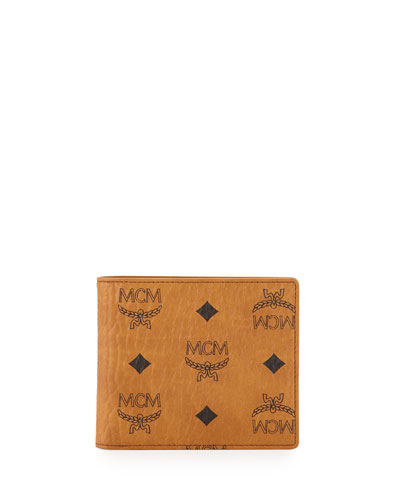 Heritage Coated Money-Clip Wallet, Cognac