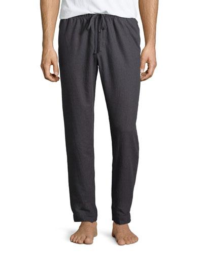 Emilien Flannel Lounge Pants, Gray