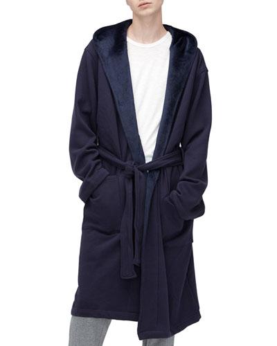 Brunswick Wrap Robe, Navy