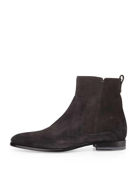 Vince Carbon Suede Chelsea Boot, Gray