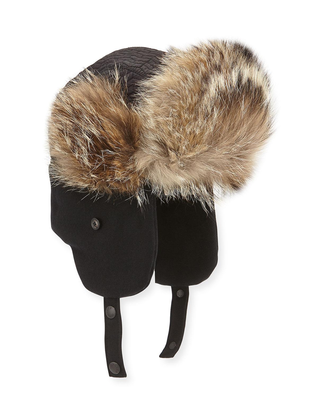Moncler Fur-Trim Trapper Hat 8a850e530bb1