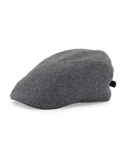 Wool Newsboy Cap, Gray