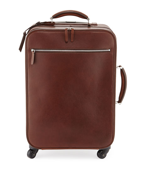 Brunello CucinelliLeather Trolley Bag, Copper