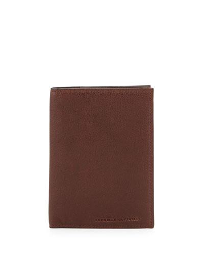 Buffalo Leather Passport Holder, Copper