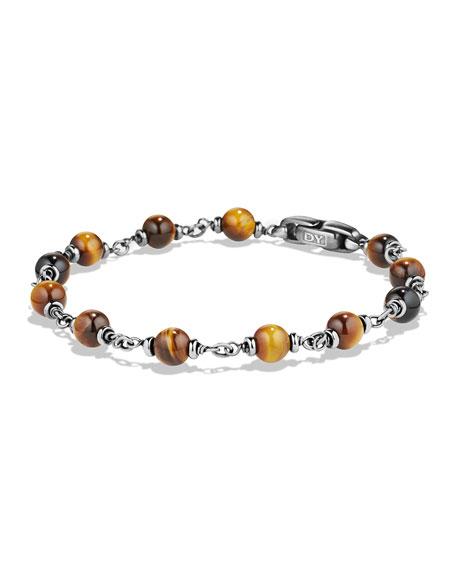David Yurman Rosary Beads Bracelet with Tiger's Eye