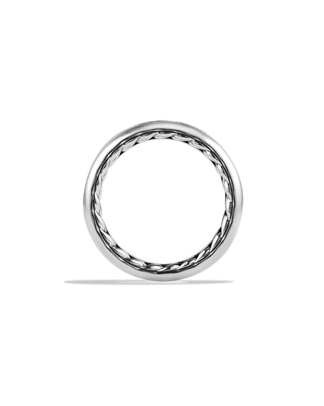 Streamline Men's Band Ring, Silver