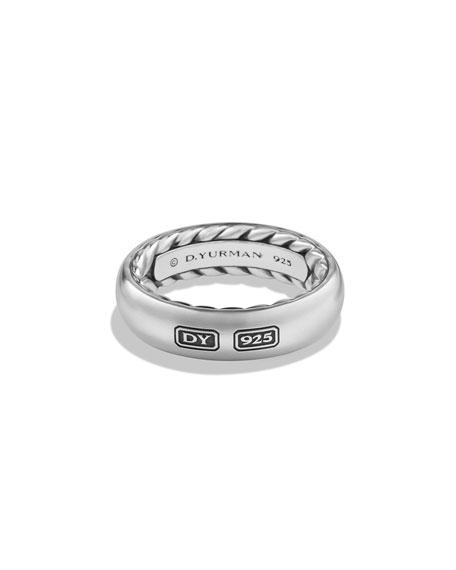 David Yurman Streamline Men's Band Ring, Silver