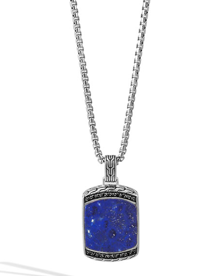 John Hardy Men's Batu Classic Chain Lapis Dog