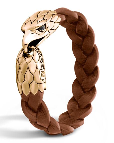 John Hardy Men S Bronze Eagle Head Bracelet Neiman Marcus