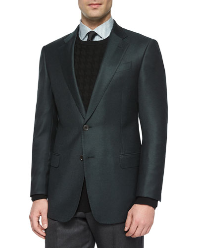 G-Line Textured Sport Jacket, Green