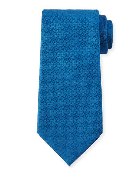 Textured Silk Tie, Blue