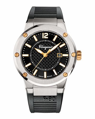 F-80 Stainless Steel Sport Watch, Black