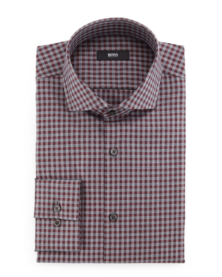 Boss Hugo Boss Jaser Slim-Fit Check Dress Shirt,