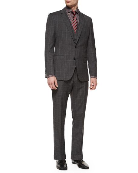 Boss Hugo Boss Norman Slim-Fit Plaid Three-Piece Suit,