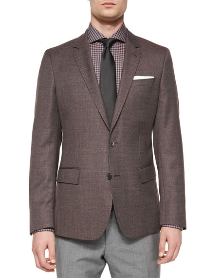 Boss Hugo Boss Houndstooth Slim-Fit Sport Coat, Gray
