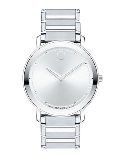 40mm Sapphire Watch, Silver