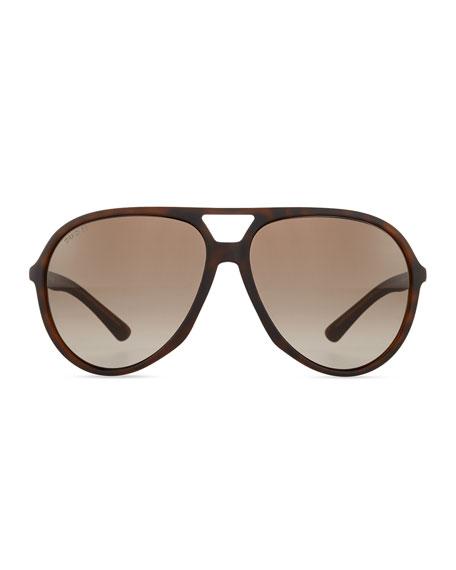 ecf3feb181 Gucci Crystal Temple Aviator Sunglasses