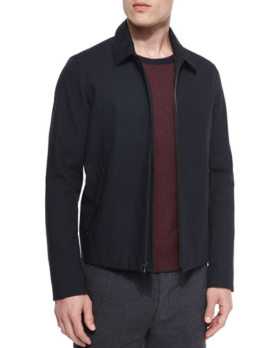 Bonded Zip-Up Jacket, Black