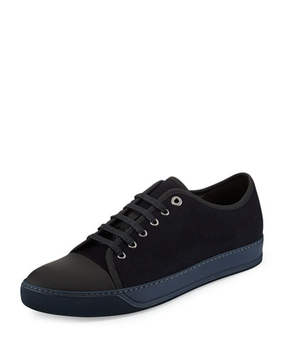 Cap-Toe Canvas Low-Top Sneaker, Navy