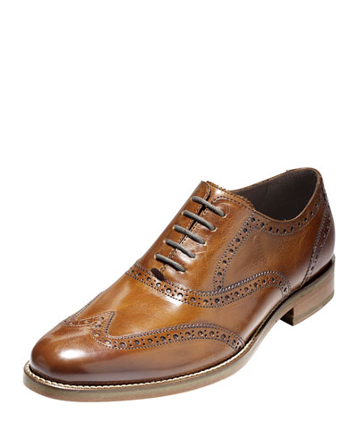 Preston Wing-Tip Oxford, British Tan