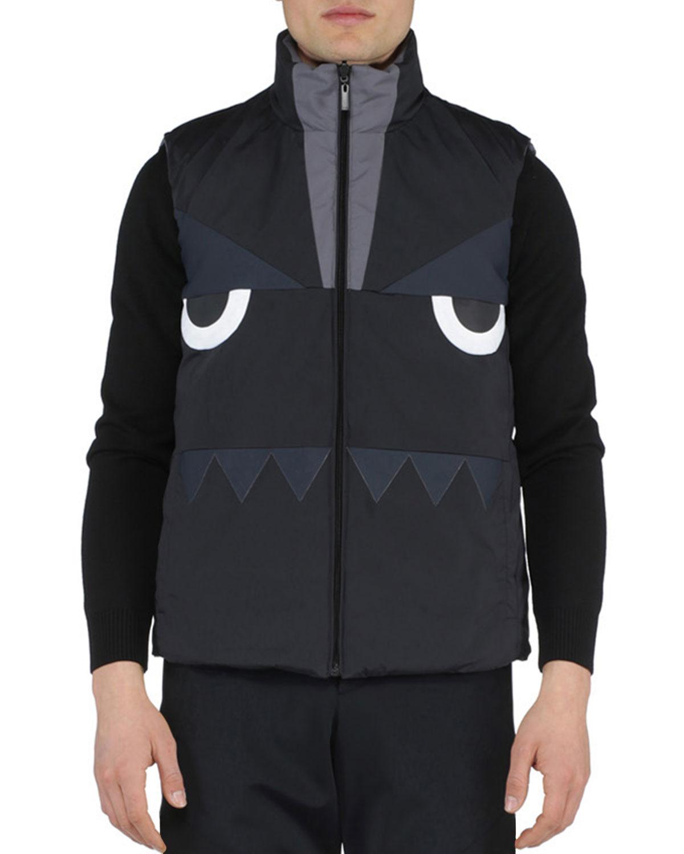 d3aaa5b1a2ec Fendi Monster-Face Reversible Vest