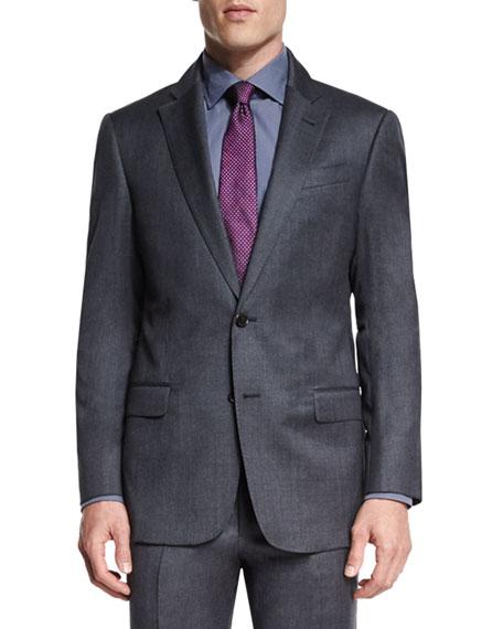Armani Collezioni G-Line Melange Two-Piece Suit, Gray